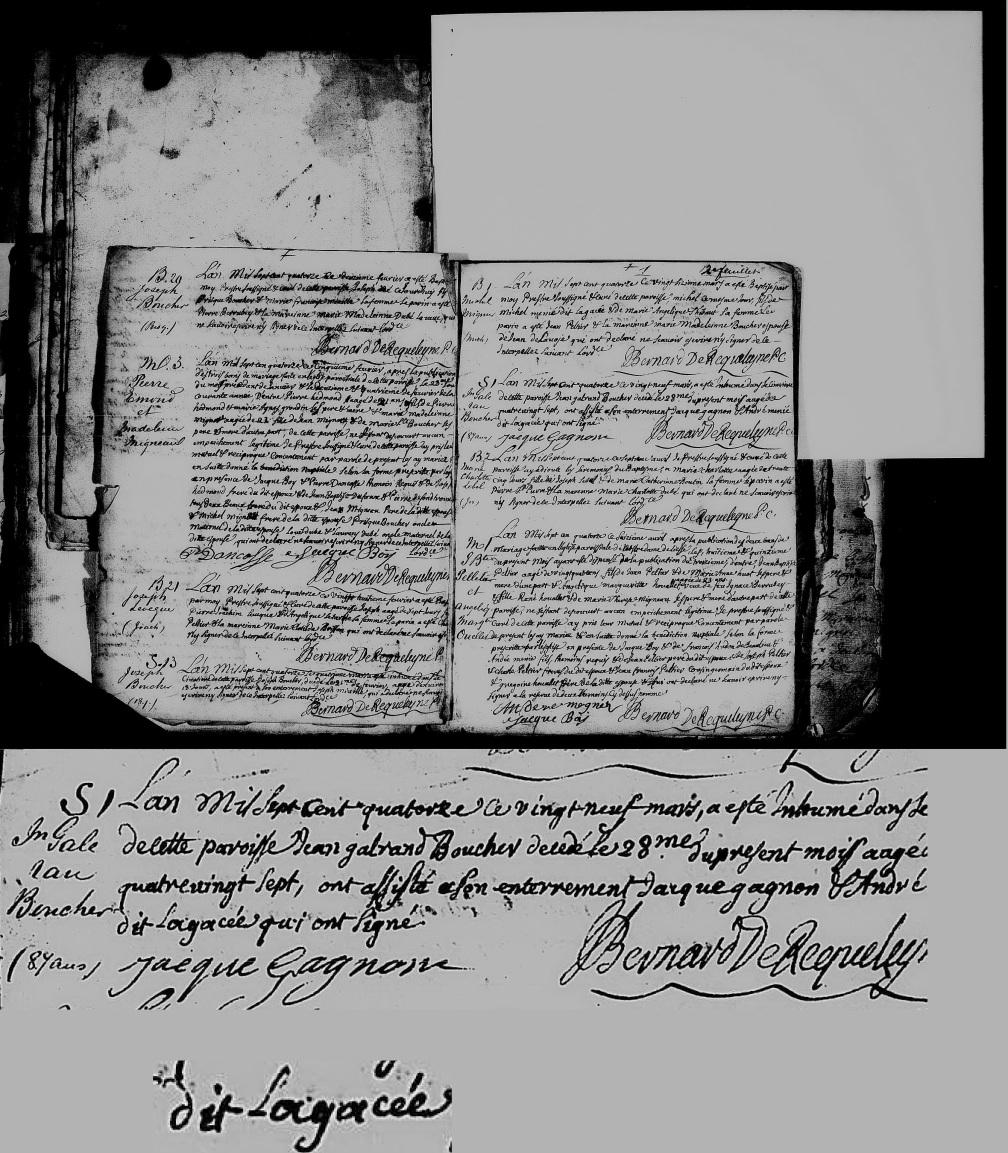 1714 sépulture Jean Galeran Boucher